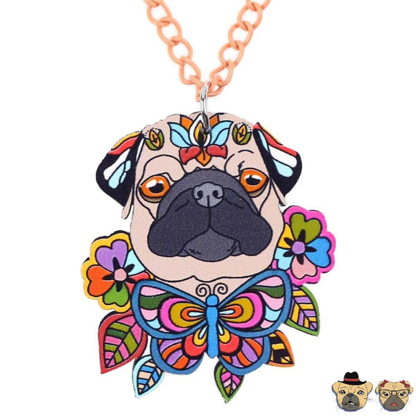 Paradise Pug Neckalce Multicolor Necklaces