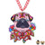 Paradise Pug Neckalce Red Necklaces