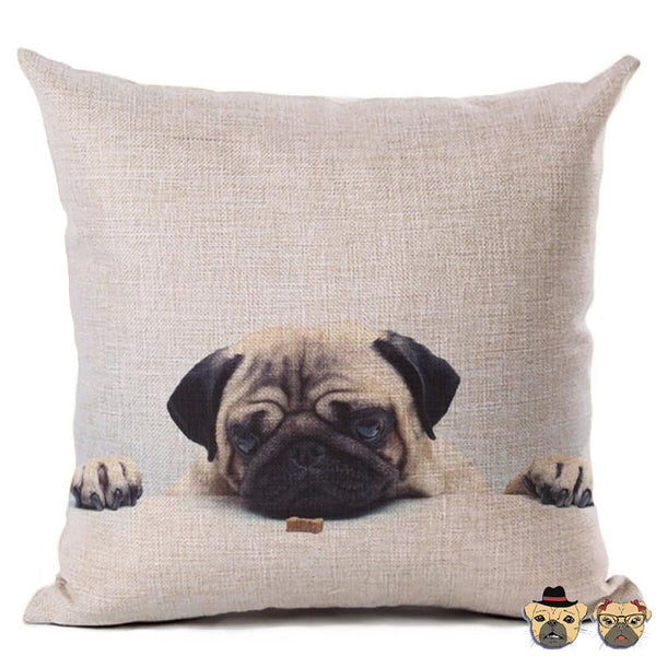 Pug Almost There Pillow Case Pillows