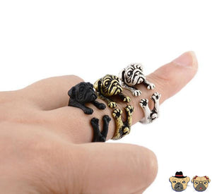 Pug Cuddle Ring Rings