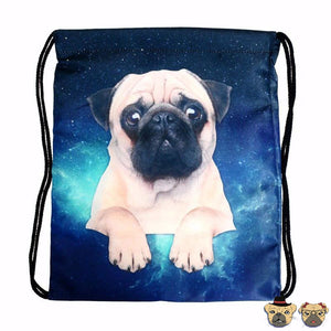 Pug Galaxy Drawstring Bag Bags