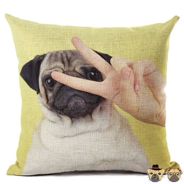 Pug Of Victory Pillow Case Pillows