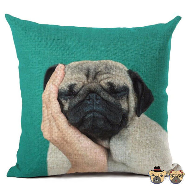 Sleepy Pug Pillow Case Pillows