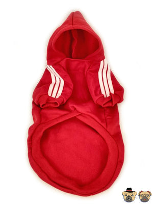 Street Hoodie For Pug - Red Clothing
