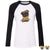 Weirdo Pug Raglan Sleeve Shirt Black / L Shirts