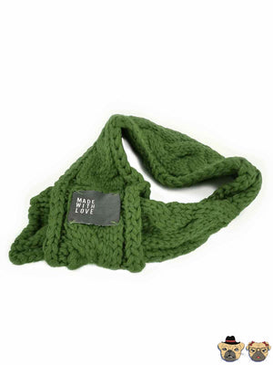 Winter Scarf For Dog - Green Dogs Clothing