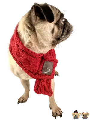 Winter Scarf For Dog - Red Dogs Clothing