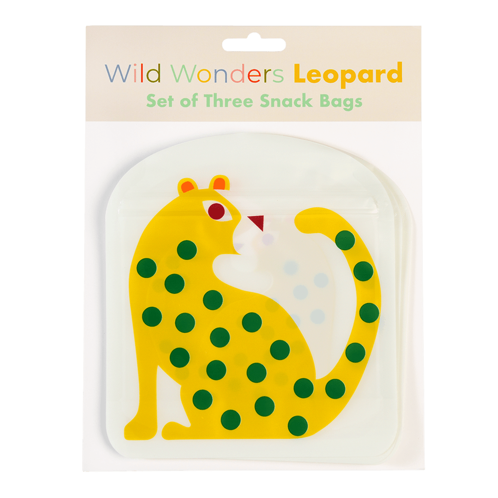 Reusable Snack Bags - Leopard