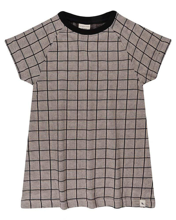 Grid Jacquard T Dress