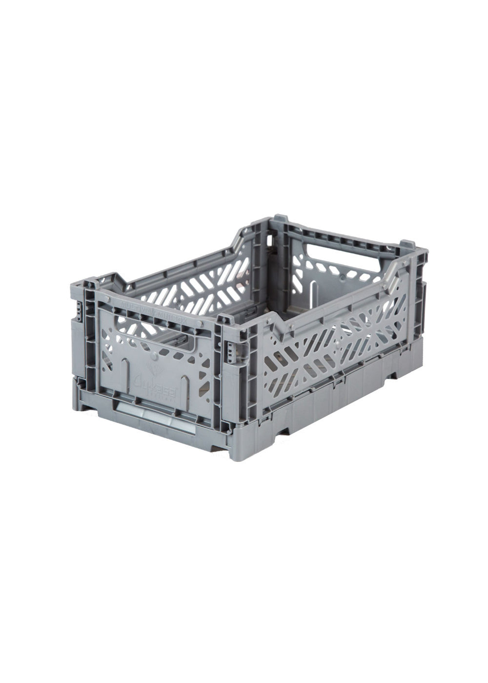 Folding Storage Crate - MINI - Grey