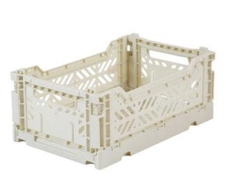 Folding Storage Crate - MINI - Light Grey