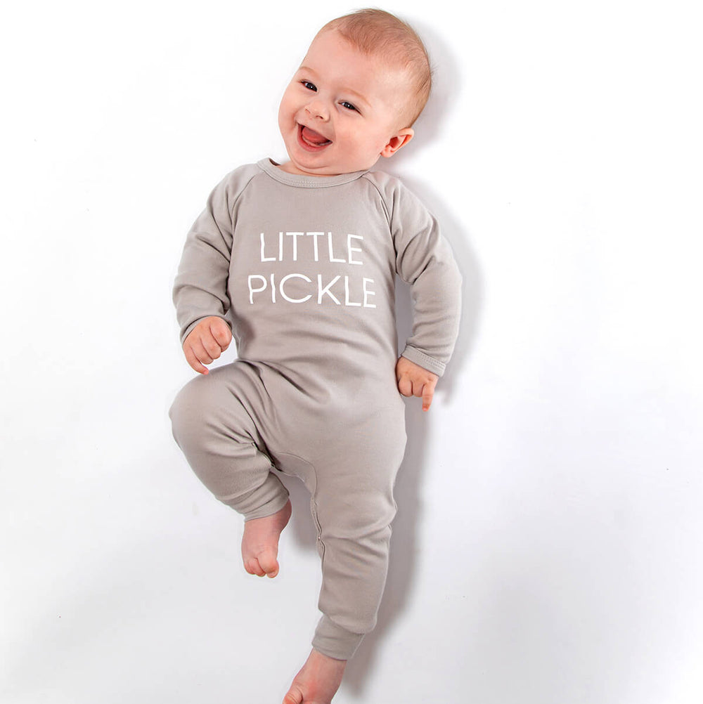 Little Pickle Romper Babygro - Grey