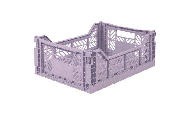 Folding Storage Crate - MIDI - Orchid / Lilac