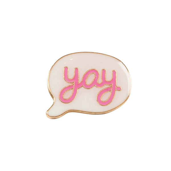 Yay Speech Bubble Pin Badge - Badge
