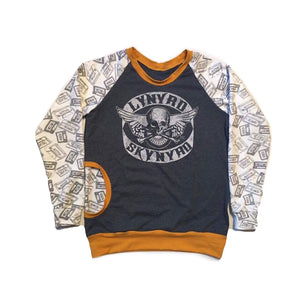 Custom Upcycled Adult Raglan Tshirt