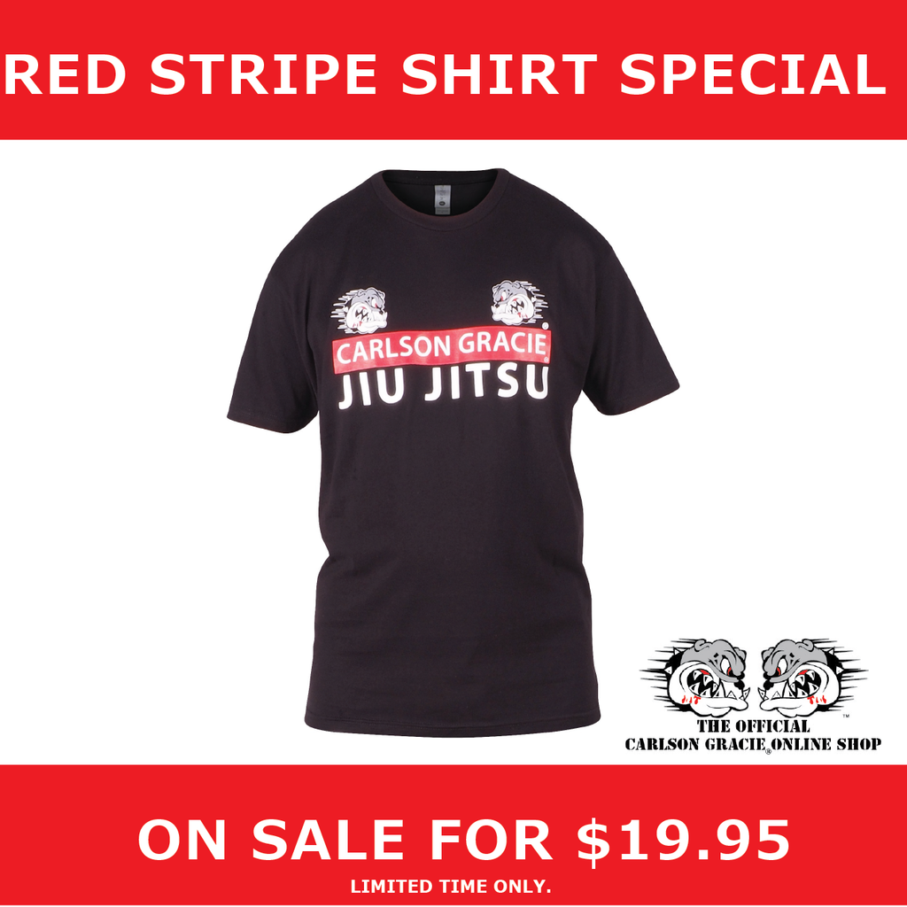 Special on our Official Carlson Gracie Red Stripe T-Shirt