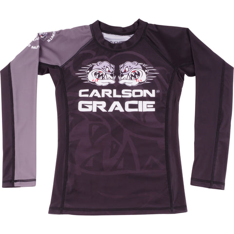 Kids Official Carlson Gracie Long Sleeve Rash Guard