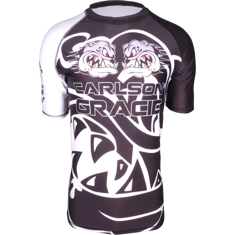 Official Carlson Gracie Short Sleeve Ranked Rash Guard