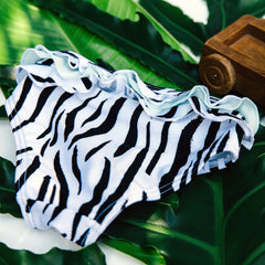 Zebra Wave Swim Bottoms