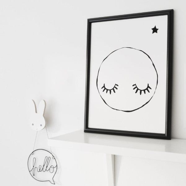 Sleepy Moon - A4 Print