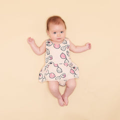 Organic Cotton Dress with Integral Bodysuit