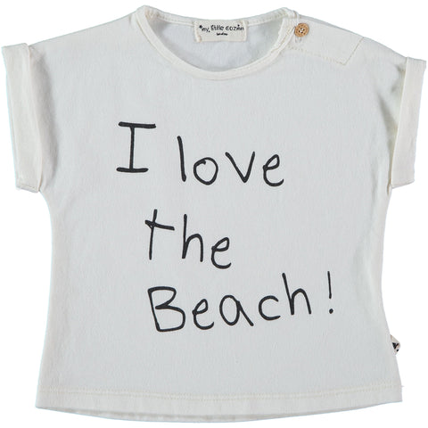 'I Love The Beach!' Slogan T-Shirt