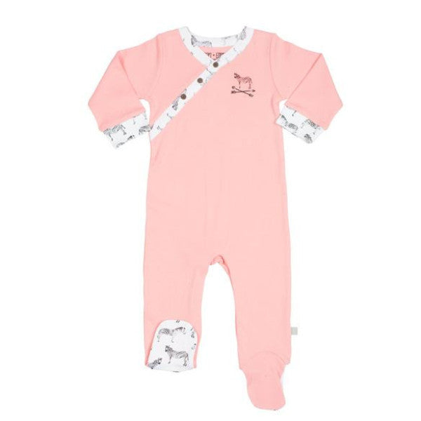 Miami Zoo Salmon Rose Sleepsuit
