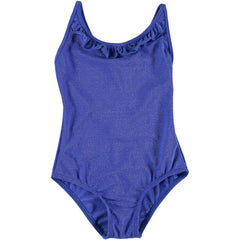 Blue Glitter Ruffle Swimsuit
