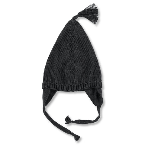 Knitted Hat in Dark Grey