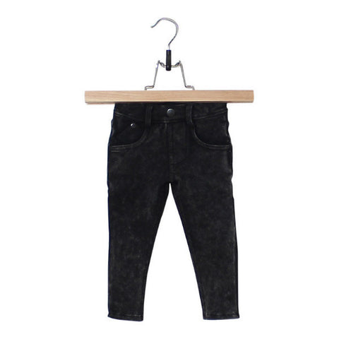 Black Jog Denim Skinny Jeans