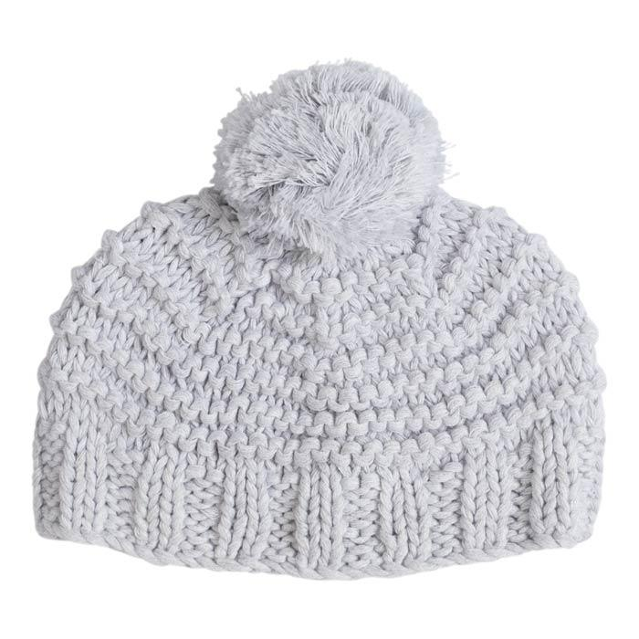Grey Chunky Knit Hat