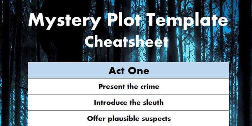 A mystery novel template / cheatsheet / outline