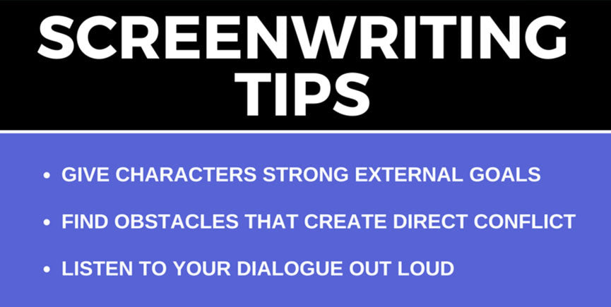 Screenwriting Tips (INFOGRAPHIC)