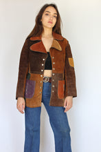 Belted Patchwork Leather Coat