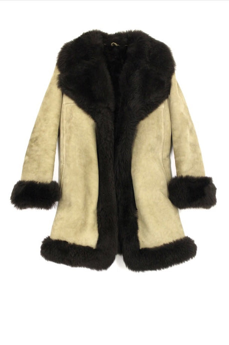 Camel Suede & Fur Coat
