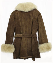 Chocolate Suede & Shearling 1970s Coat