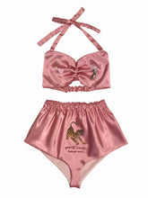 Lost Highway Embroidered Satin Set