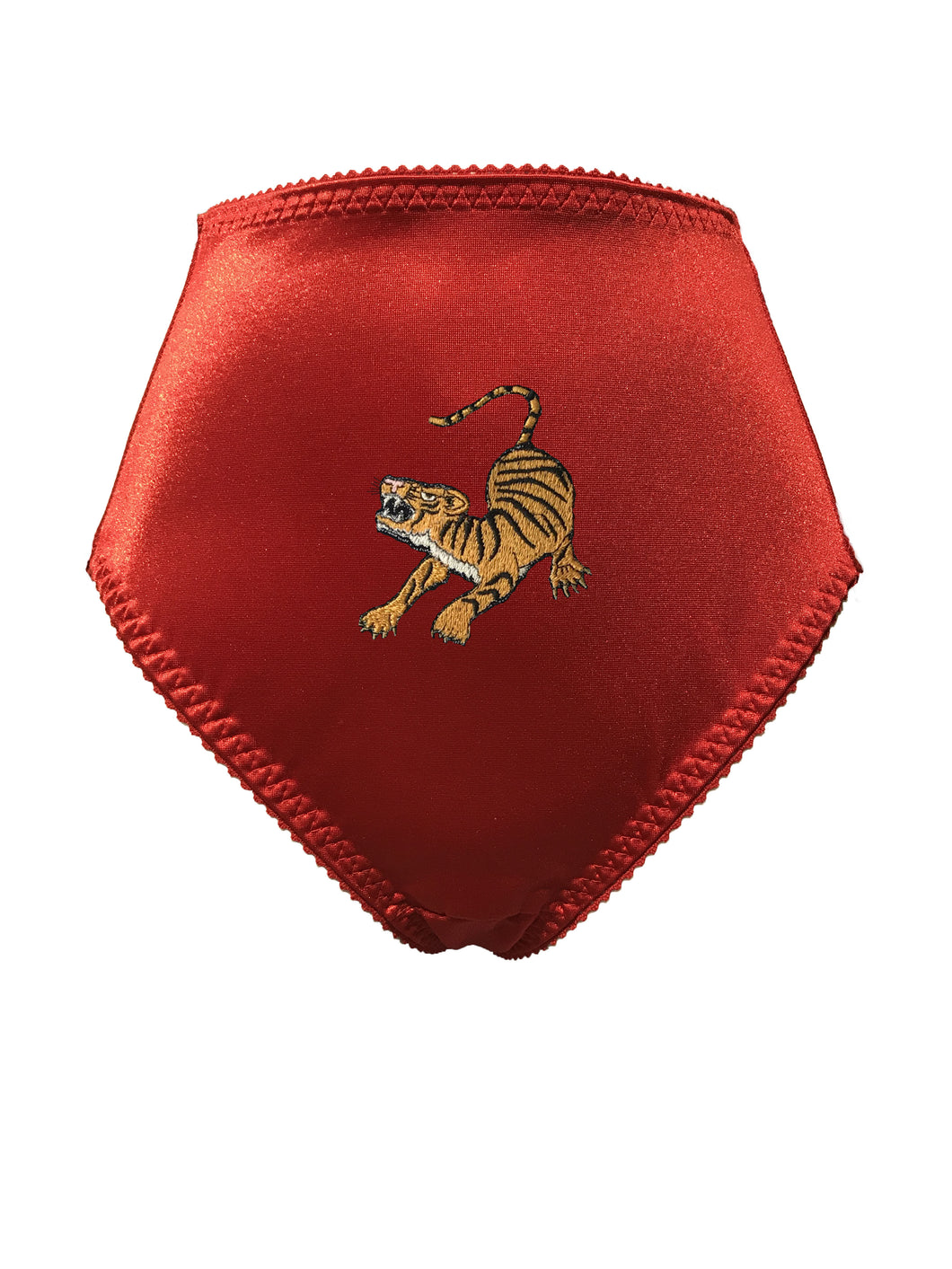 Man Eater Embroidered Panty - Cherry Red