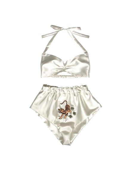 Wild Thing Mother of Pearl Satin Sleep Set