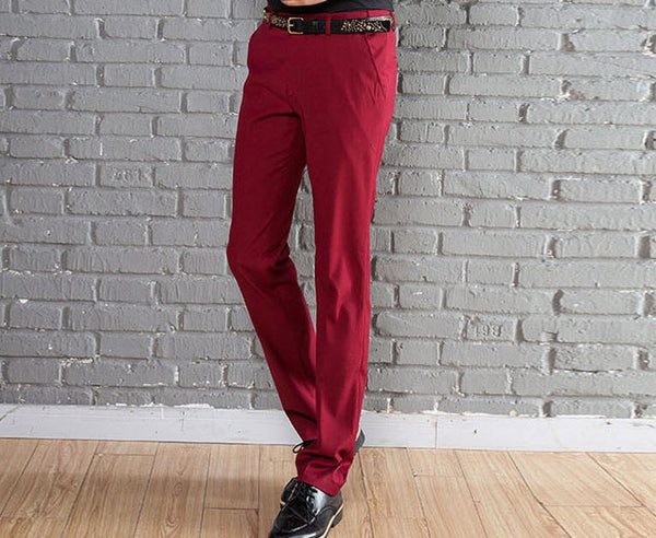 New Suit Time -Travon Series - Men's Dress Pants - Red