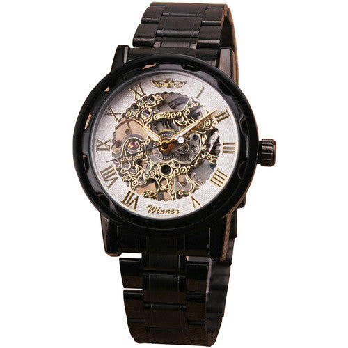 New Suit Time -Savas Series - Men's Watch Black / White / Golden