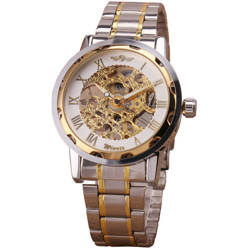 New Suit Time -Savas Series - Men's Watch Gold/White