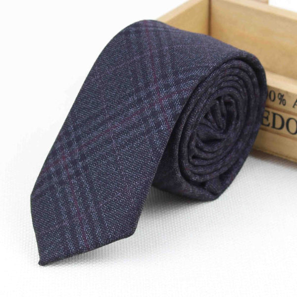 New Suit Time -Collin Series - Men's Tie - Grey Check