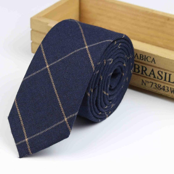 New Suit Time -Collin Series - Men's Tie - Navy Check