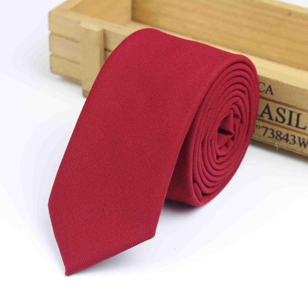 New Suit Time -Collin Series - Men's Tie - Red