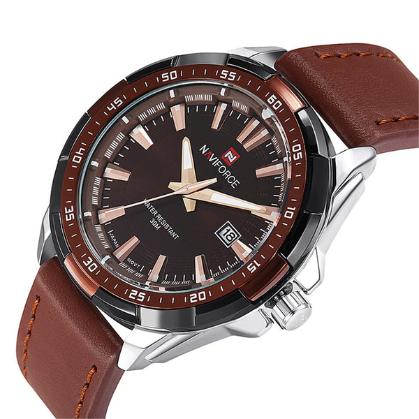 New Suit Time -Pabloe Series Men's  Watches Brown/Black