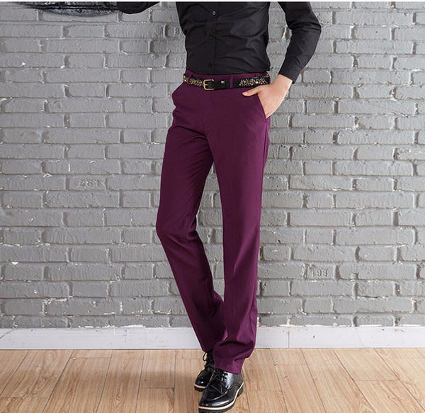 New Suit Time -Travon Series - Men's Dress Pants - Eggplant