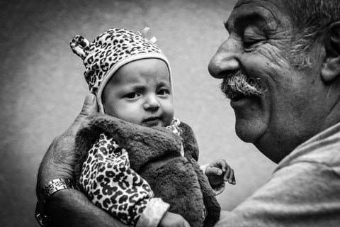 Grandparent - Grandchild Portrait by Portrait one