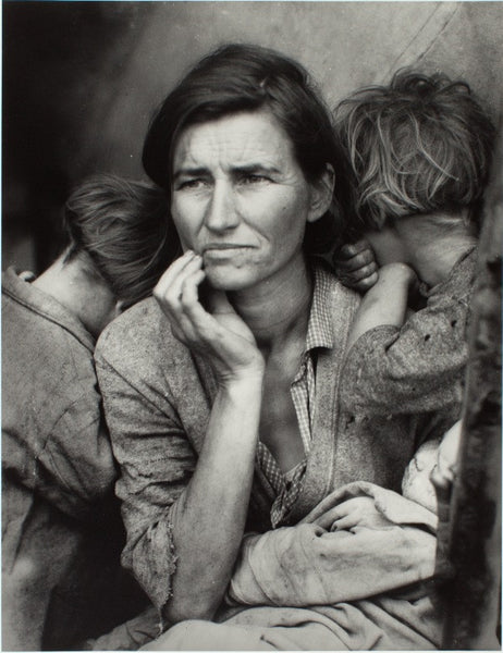 Photograph: Dorothea Lange, Migrant Mother, 1936.