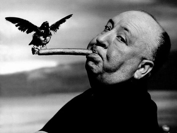 Photo: Alfred Hitchcock, The Birds